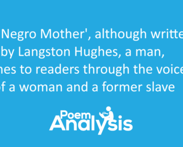 The Negro Mother by Langston Hughes Summary