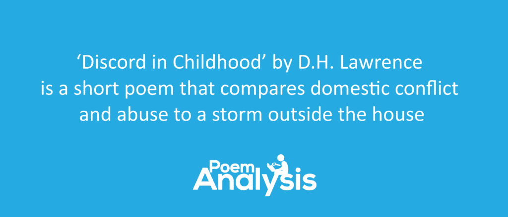 Discord in Childhood by D.H. Lawrence Summary